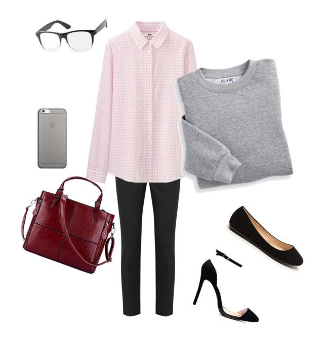 """""""Study or work chic"""" by arina2193 on Polyvore featuring RED Valentino, Uniqlo, Blair, Native Union and Charlotte Russe"""