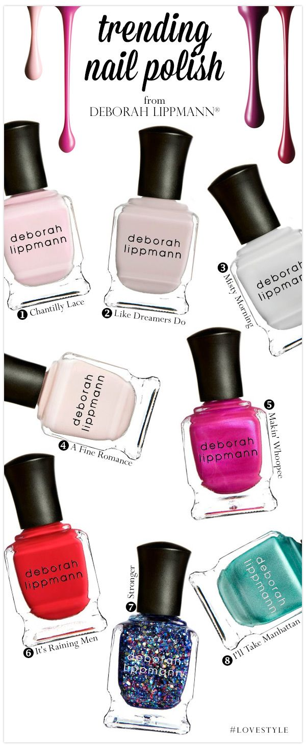 8 Deborah Lippmann Nail Polishes We Adore #LoveStyle
