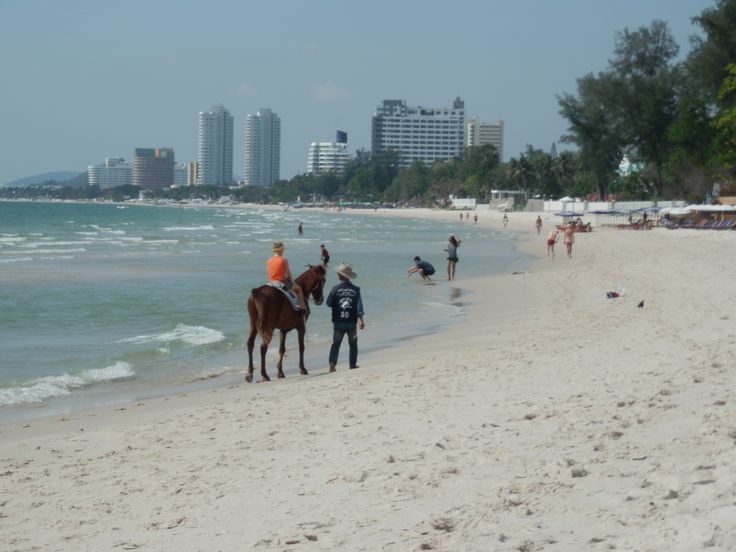There are plenty of horses to ride along Hua Hin beach