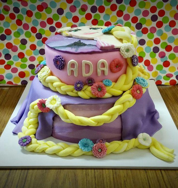 Tangled repunzel cake