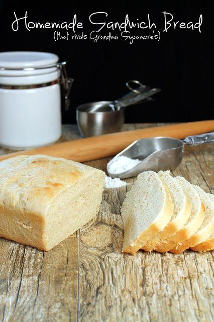 The Stay At Home Chef: Homemade Sandwich Bread - Grandma Sycamore's Copycat
