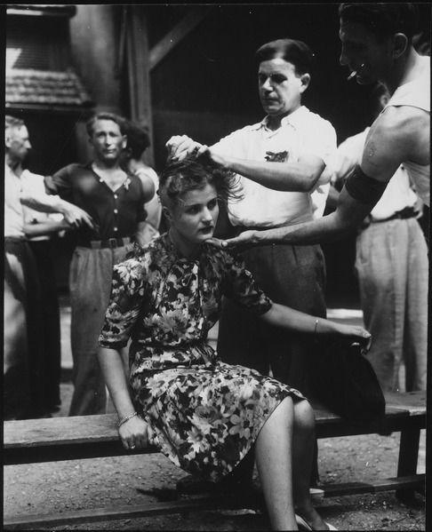 Na de oorlog werden veel meiden die een relatie hadden met de Duitse soldaten kaalgeschoren. na de oorlog was het makkelijk om een held te zijn..