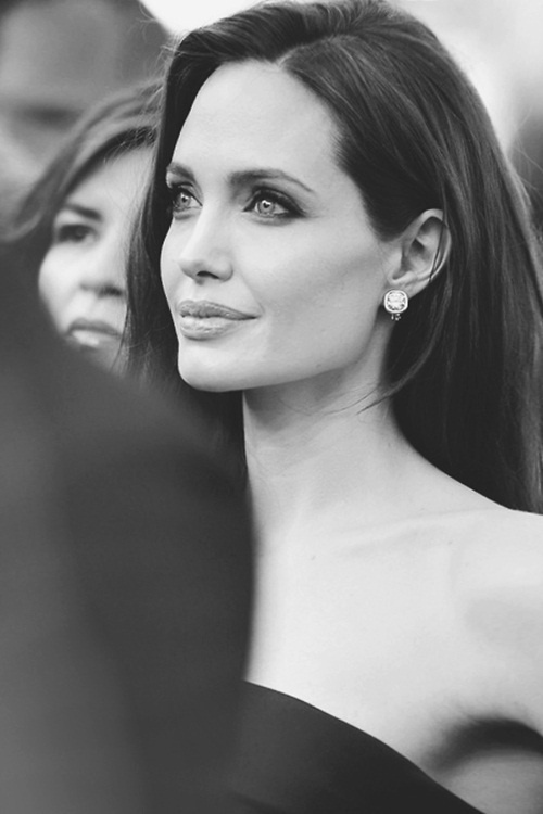 Angelina Jolie, perfect jawline... and everything else