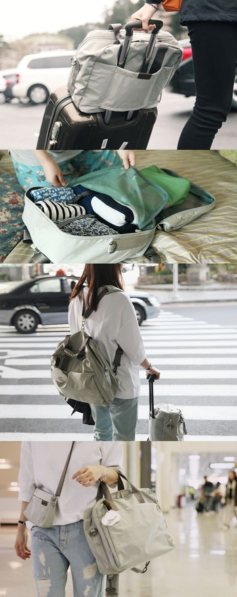 This Multipurpose Travel Bag is a godsend for travelers & fashionistas! There are 5 sophisticated colors + 10 different compartments of various sizes for your convenience of storing all of your travel items safely, logically & practically. This bag can even be carried in multiple ways: by its handles as a tote bag, as a backpack, or attach it to your suitcase handles too! All the wanderlusts out there, let's shout from the mountaintops together! Traveling with this bag is definitely worth…