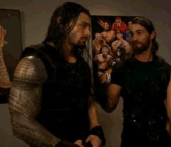Roman Reigns and Seth Rollins. Back when they were the Shield