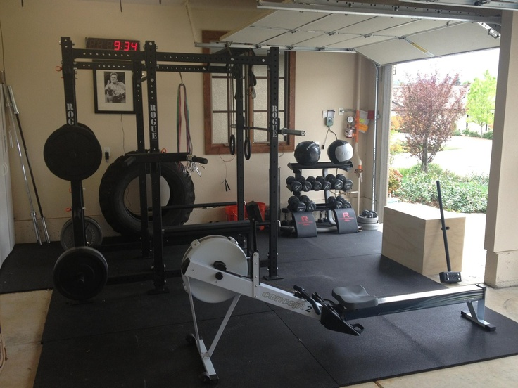 Best garage gym images on pinterest at home