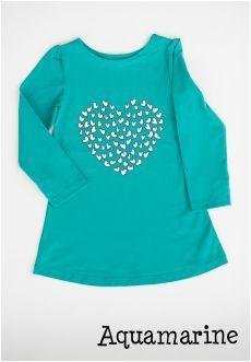 Queen of Hearts Tunic, Aquamarine, Size 2