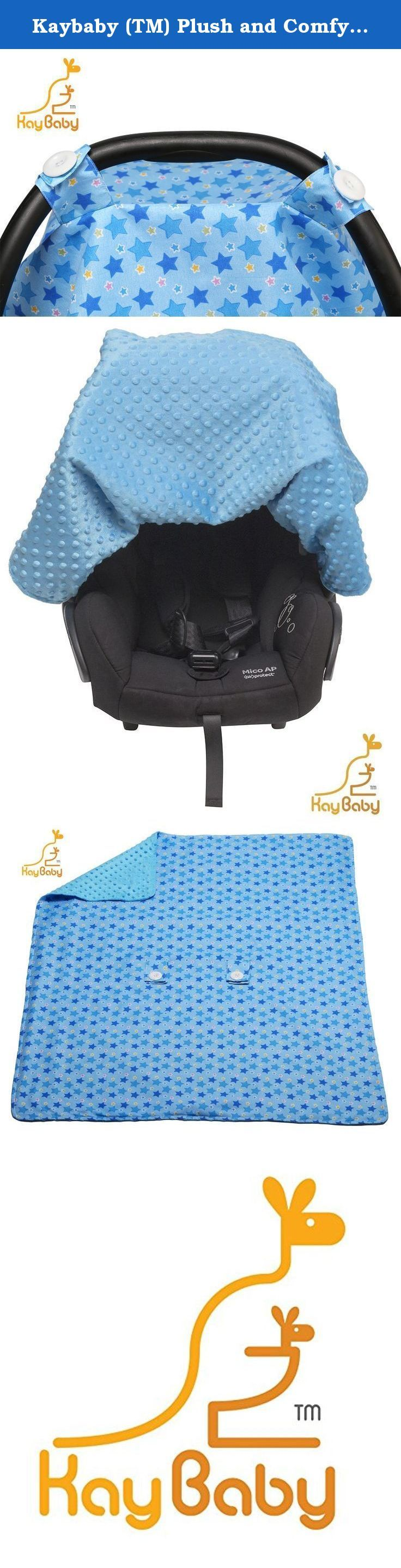 """Kaybaby (TM) Plush and Comfy Carseat Canopy. 35""""x45"""" Strong and Lightweight. Extra Plush Car Seat Canopy. Coziest Carseat Cover. 3 in 1 - Great for Nursing Cover and Baby Blanket (blue). KaybabyTM Plush and Comfy Car Seat Cover Time for your baby's first trip into the big, bad world, which means you need to be in Momma Bear mode and ensure he/she is protected properly! This infant car seat cover is just what you need to guarantee your little angel is safe and sound . The canopy is…"""