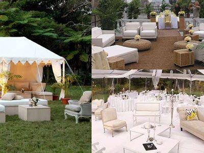 Lækker lounge til udendørs bryllupsreception!