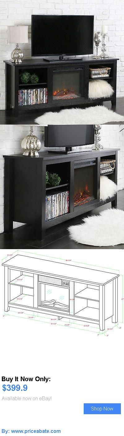 Entertainment Units, TV Stands: Electric Fireplace Tv Stand Media Console Black Adjustable Entertainment Center BUY IT NOW ONLY: $399.9 #priceabateEntertainmentUnitsTVStands OR #priceabate