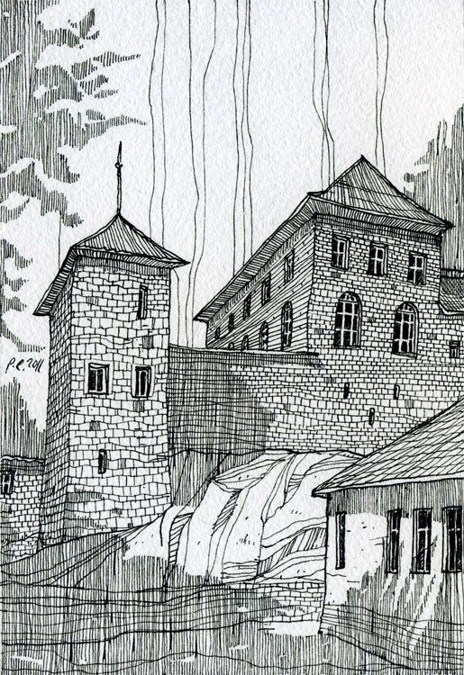architecture by Evgeniy Rodionov, via Behance