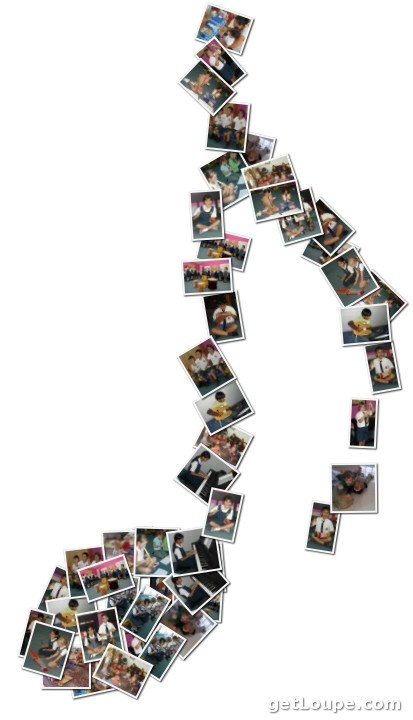 music note photo collage. love this concept. Would be a good thing to tie in with the theme of my room an still be able to use the photos of my college pals and I.