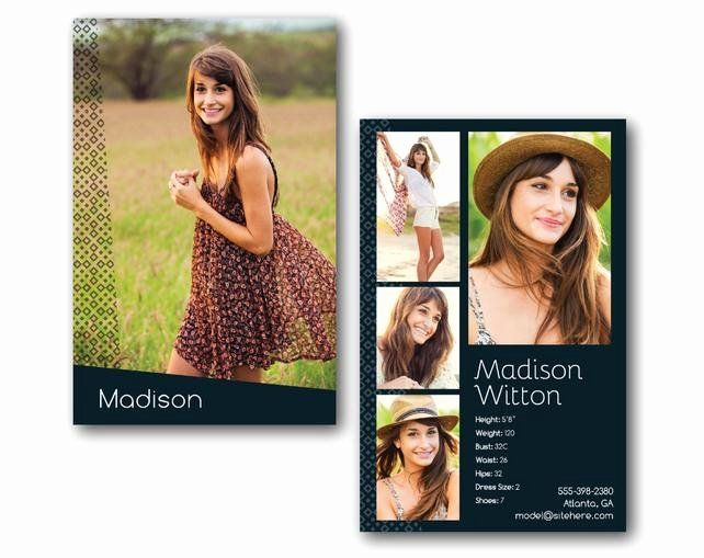 Comp Card Template Psd Download Luxury Customizable Digital Model P Card Zed Card Geometric Card Templates Free Model Comp Card Card Template
