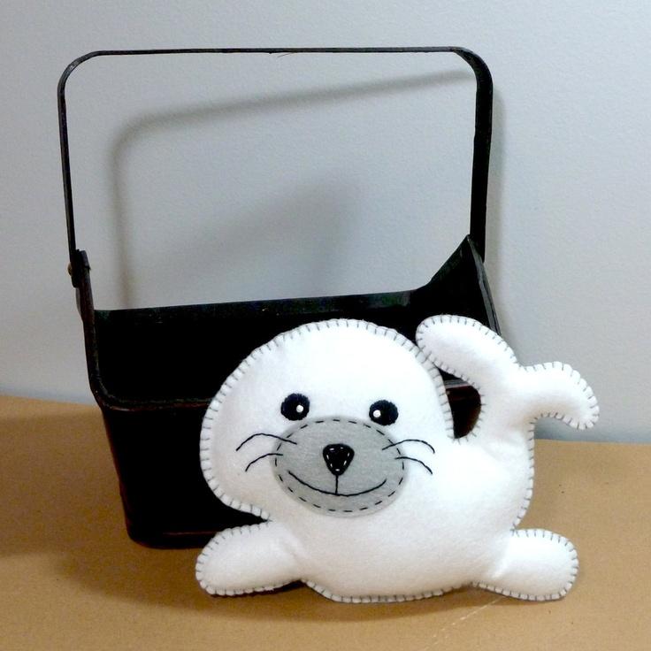 Stuffed Seal PATTERN - Sew by Hand Plush Felt Stuffed Animal PDF - Easy to Make. $4.00, via Etsy.