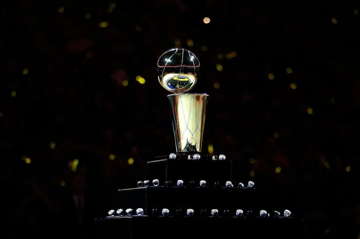 OAKLAND, CA - OCTOBER 27:  A view of the Larry O'Brien NBA Championship Trophy  and the Golden State Warriors championship rings prior to the NBA season opener against the New Orleans Pelicans at ORACLE Arena on October 27, 2015 in Oakland, California. NOTE TO USER: User expressly acknowledges and agrees that, by downloading and or using this photograph, User is consenting to the terms and conditions of the Getty Images License Agreement.  (Photo by Ezra Shaw/Getty Images) Photo: Ezra Shaw…