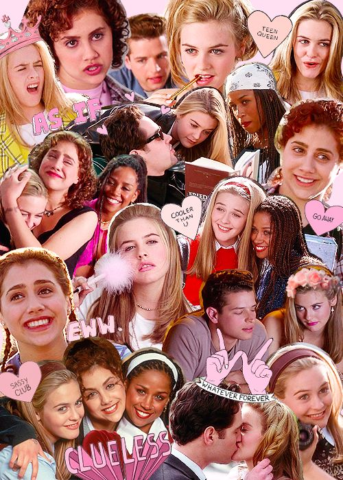 clueless collage …