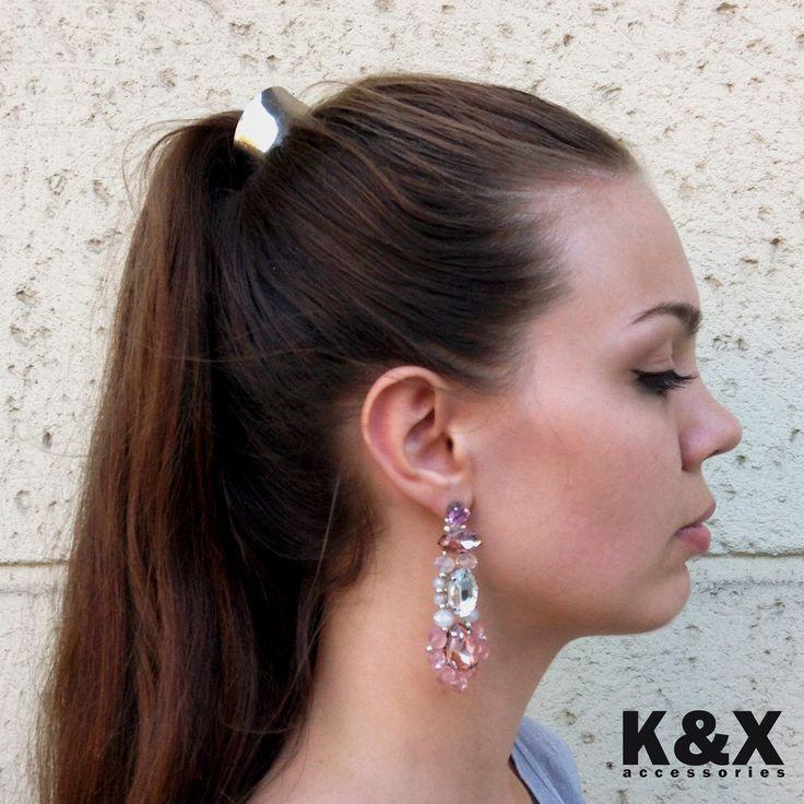 серьги Roma Pink 2  #kxroma #pink #accessories #odessa #handmade #luxury #fashion #style #kxfashion #jewelry #fashion #earrings #glam