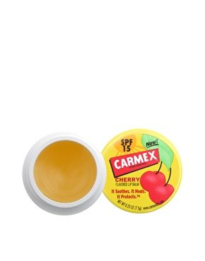 Cherry lip balm by Carmex. Featuring a rich balm formula to alleviate dry lips, it contains nourishing butters to moisturise the lips while ...