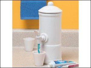 Porcelan Mouthwash Dispenser Home Bathroom