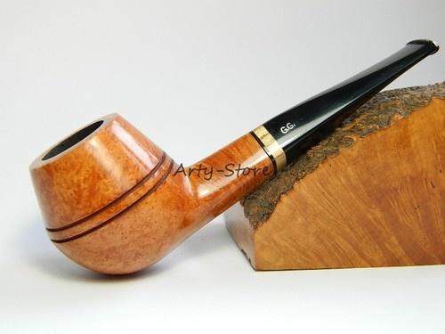 "Genuine BRIAR Tobacco Smoking pipe ""Bulldog"" #2 Smooth, 9mm filter by G.G.+ Gift: Gift"