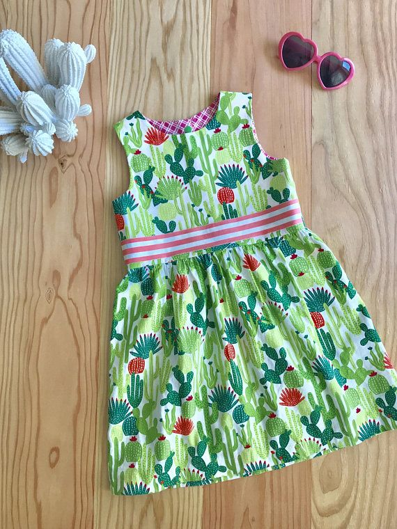8cb2852db005 Party Dress, Girl Cactus Dress, Girl Flower Dress, Cactus, Flowers, Girl  Dress, made to order dress, Colorful dress, Summer dress | Kid clothes |  Summer ...