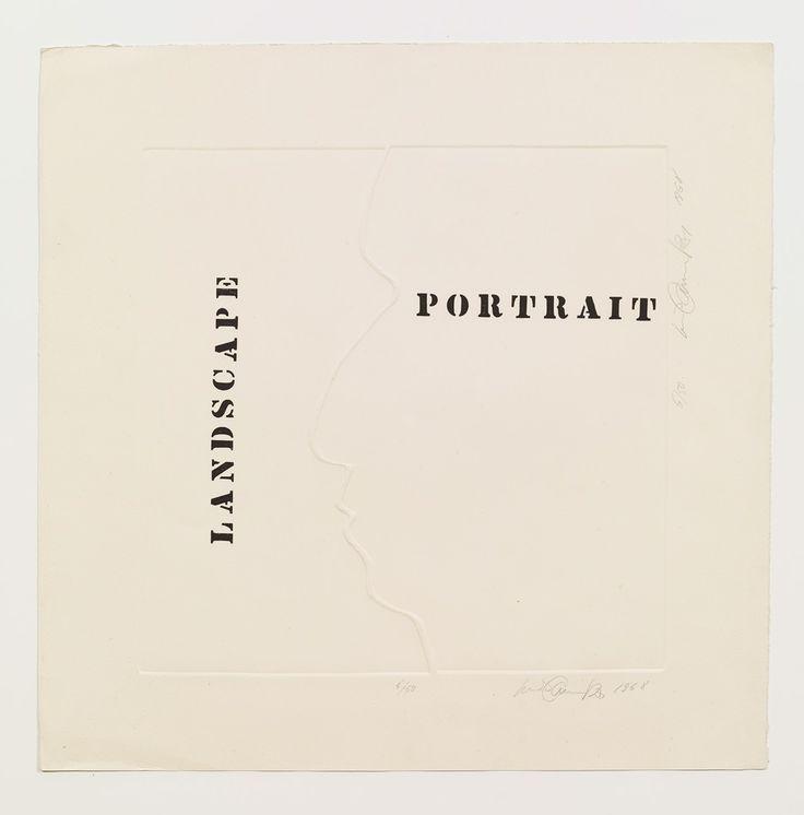 Luis Camnitzer, Landscape Portrait, 1968, Alexander Gray Associates