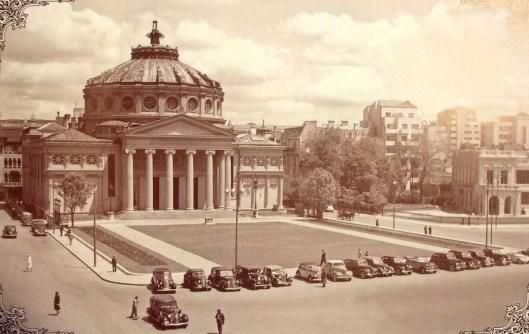 Romanian Athenaeum Bucharest Romania Ateneul Roman Bucuresti romanians culture little paris