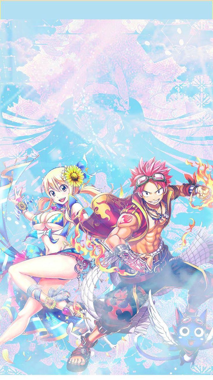 Natsu Dragneel x Lucx Heartfilia - Nalu wallpaper (Twitter @chao_kana)