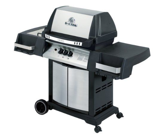 BroilKing 945364 Crown 40 Liquid Propane Gas Grill with 10,000 BTU Side Burner
