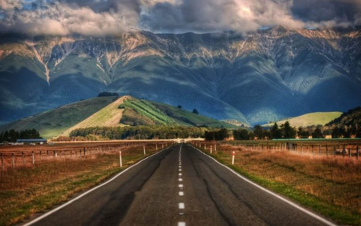The road and the mountains - Adventure awaits