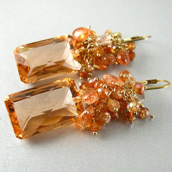 Champagne Citrine Lepidocrosite and Sunstone by SurfAndSand