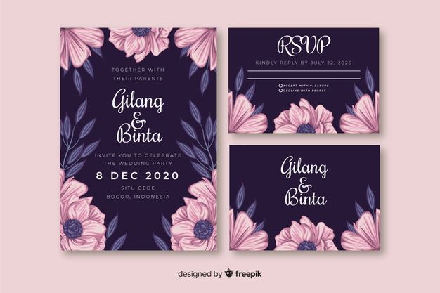 Download Floral Wedding Invitation Template For Free Floral Wedding Invitations Wedding Invitation Templates Wedding Invitations