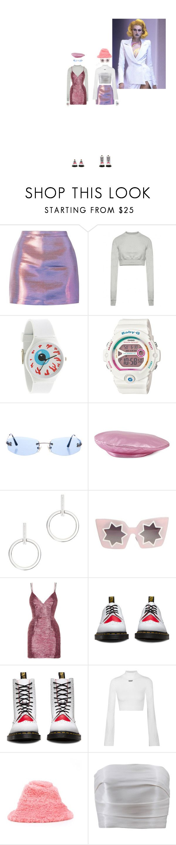 """""""COOL HOT SWEET LOVE"""" by rojinnn ❤ liked on Polyvore featuring Rick Owens, Mishka, Casio, Chanel, Gucci, Vita Fede, Markus Lupfer, Alex Perry, Dr. Martens and Off-White"""