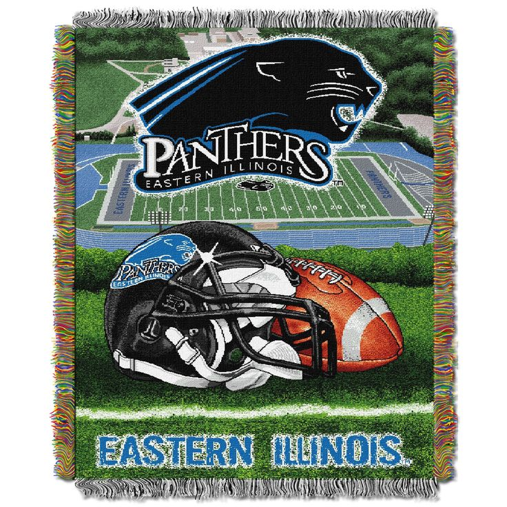 "Eastern Illinois College """"Home Field Advantage"""" 48x60 Tapestry Throw"