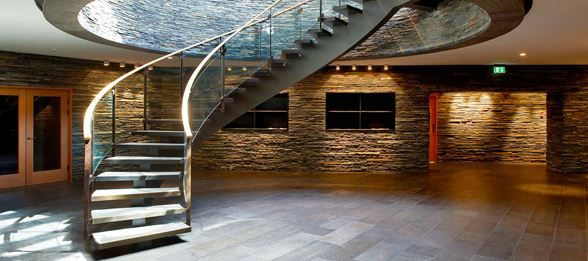 Scandinavian Golf Club byHenning Larsen Architects. #Stairway #lighting