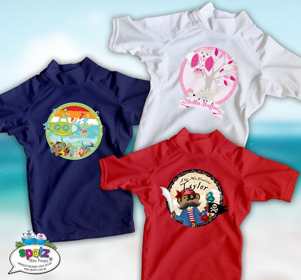 Personalised Kids Rashie Sun Shirt - UPF rating 50