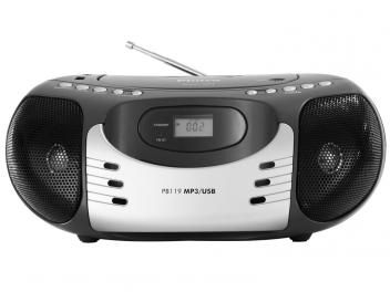 Rádio Portátil AM/FM com CD/MP3 Player - Entrada USB - PB119 Philco
