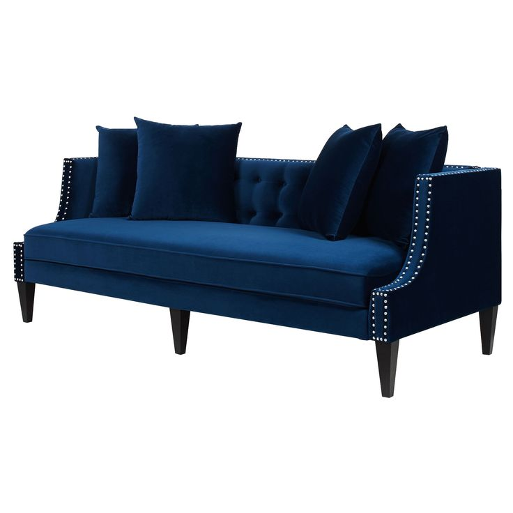 1000 ideas about blue sofas on pinterest navy blue sofa for Studded sofa sets