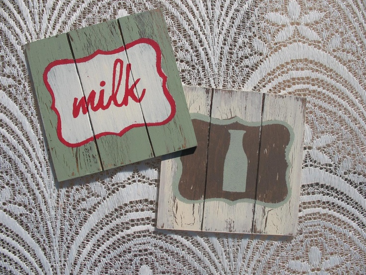 "To order: info@primabella.net  Distressed Wooden Coasters. Set of 4  ""coffee"", ""coffee mug"", ""tea"", ""tea cup"", ""soda"",  ""soda glass"", ""milk"",   ""milk bottle"", ""bird"" & ""heart""designs   (available in English & Afrikaans) R75  Available in various pastel colors.  Home Decor Gifts - Home Decor Ideas - Gift Ideas - DIY ideas"