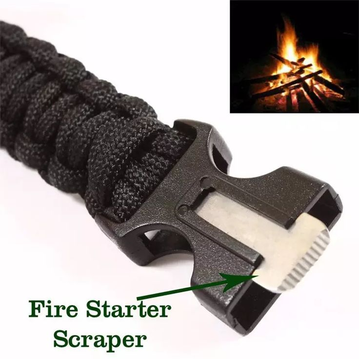 Survival Bracelets Camping Safety Wristband With Compass Fire Starter Scraper Magnesium Rods Parcord Emergency Bracelet $7.99 On Sale Now www.fidgetcubegadget.com