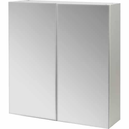 Vomo Vitali Vitali Mirror Cabinet H: 620mm, W: 600mm, D: 160mm White - Mitre 10    $159