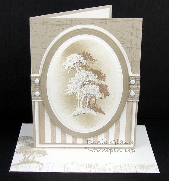 I couldn't find a name for this technique which I seen on Pinterest on at least three cards, though none with my color combo or layout. ...