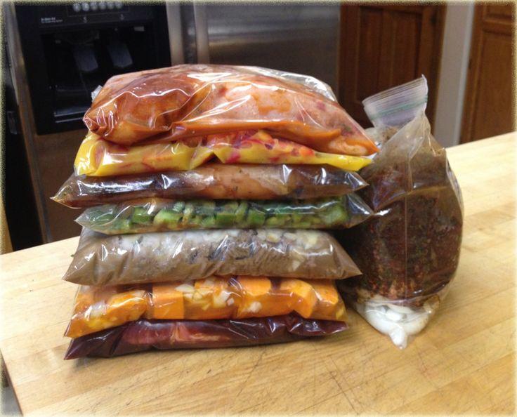 crock pot freezer meals - 8 Easy Crockpot Recipes including pulled pork, BBQ spareribs, cheesy chicken potato broccoli, beef stroganoff, honey garlic chicken, orange chicken, nacho chicken, chicken sweet potatoes