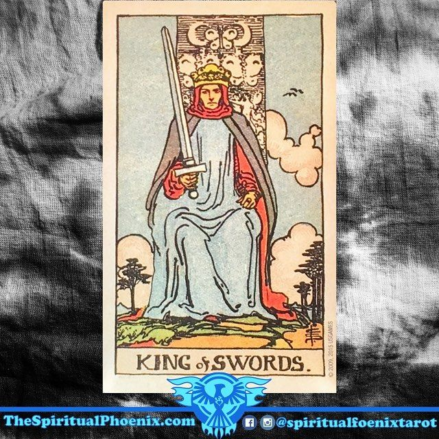 The King of Swords:⠀ ⠀ Swords: The element of Air; The intellect and decisions⠀ ⠀ Swords/Air: I think - The Mind⠀ ⠀ Kings: Air⠀ ⠀ Air: I think - The Mind⠀ ⠀ Key Meaning: An Ambitious Man⠀ ⠀ As a person:⠀ ⠀ The King of Swords can be an intellectual or a man who relies on logic to help him win. He is also open to ideas, although he can be impatient if he has to wait for a consensus before taking action. However, he is outwardly calm and makes good judgments. He often has a dry sense of humor…