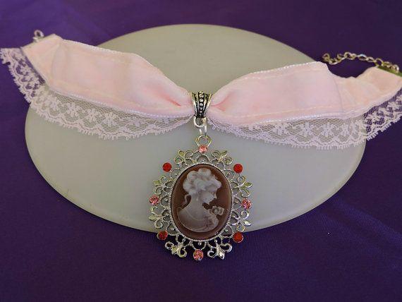 Gargantilla elegante camafeo, Gargantilla victoriana, Joyería victoriana, Collar…