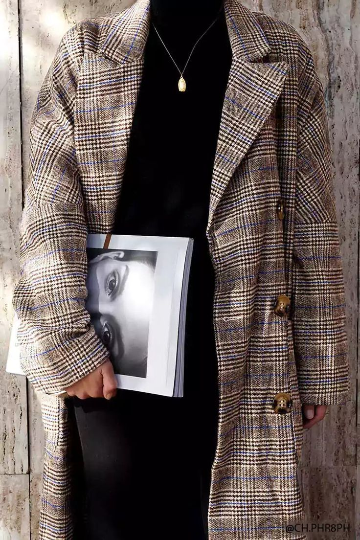 Glen Plaid Faux Fur Cuff Coat | Forever21