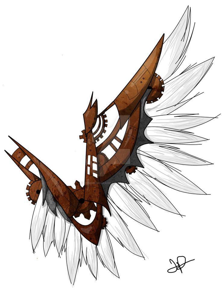 Steampunk Wing by wingedwanabe.deviantart.com on @DeviantArt