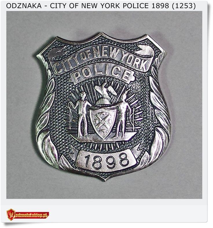 Kolekcjonerska Odznaka USA City of New York POLICE 1898 (1253)