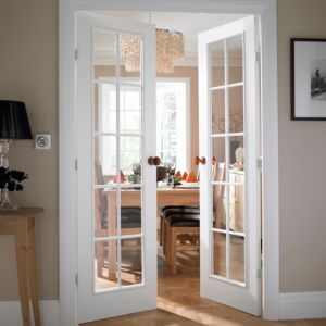 Superior Cadeby 10 Lite Clear Glazed Moulded Internal French French Door, (H)1981mm  (W)1168mm