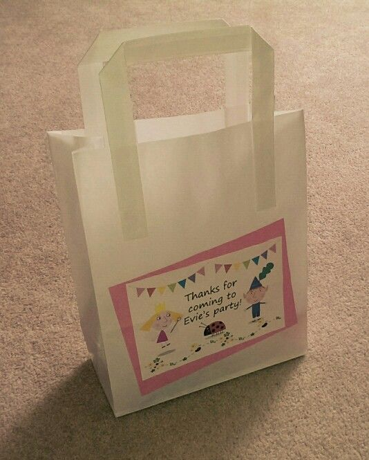Ben and Holly party bag